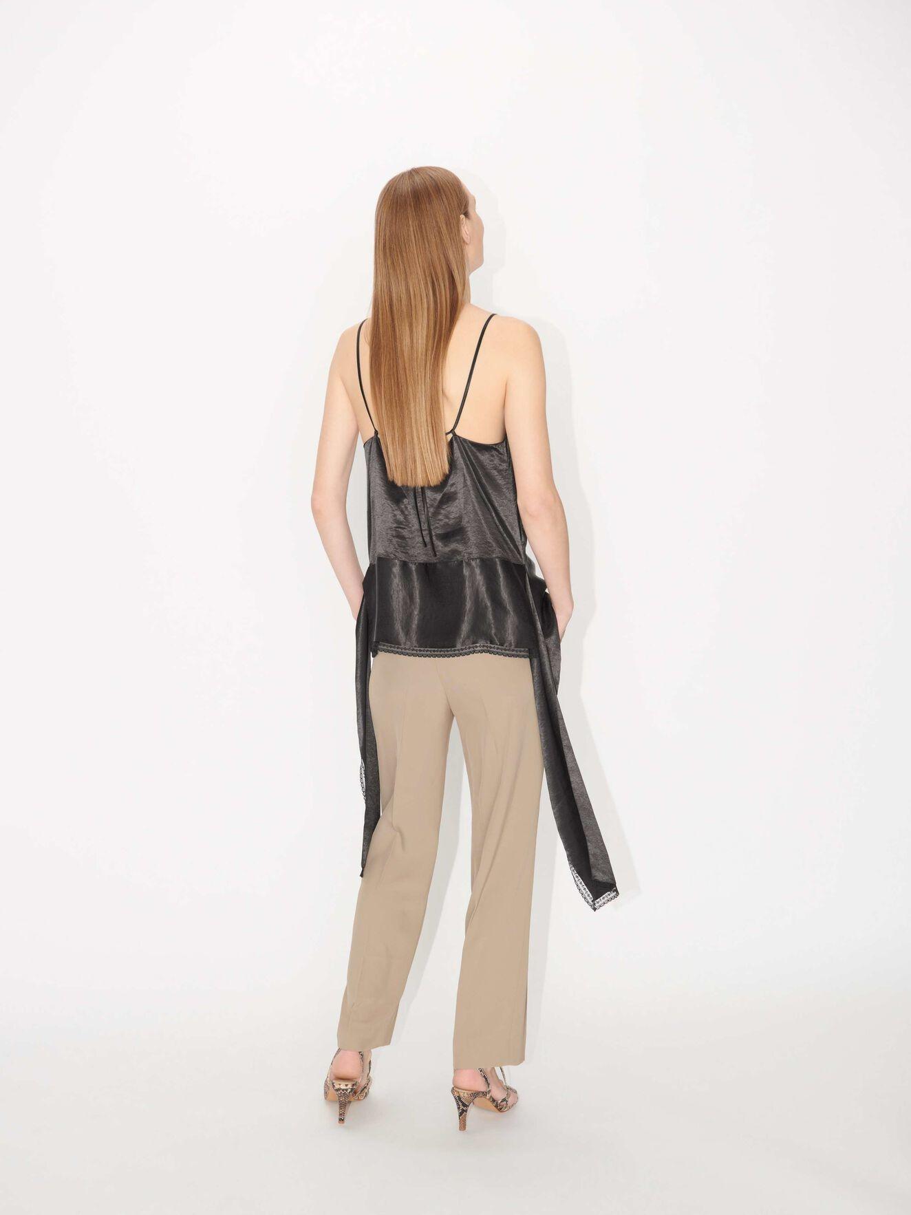 Thera C Wide Pants Tehina Khaki-2