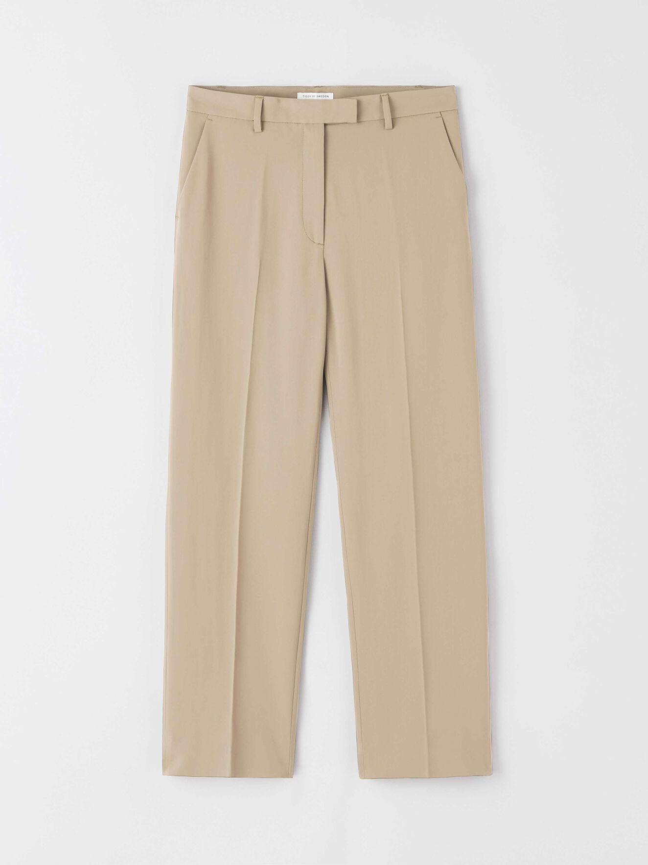 Thera C Wide Pants Tehina Khaki-1