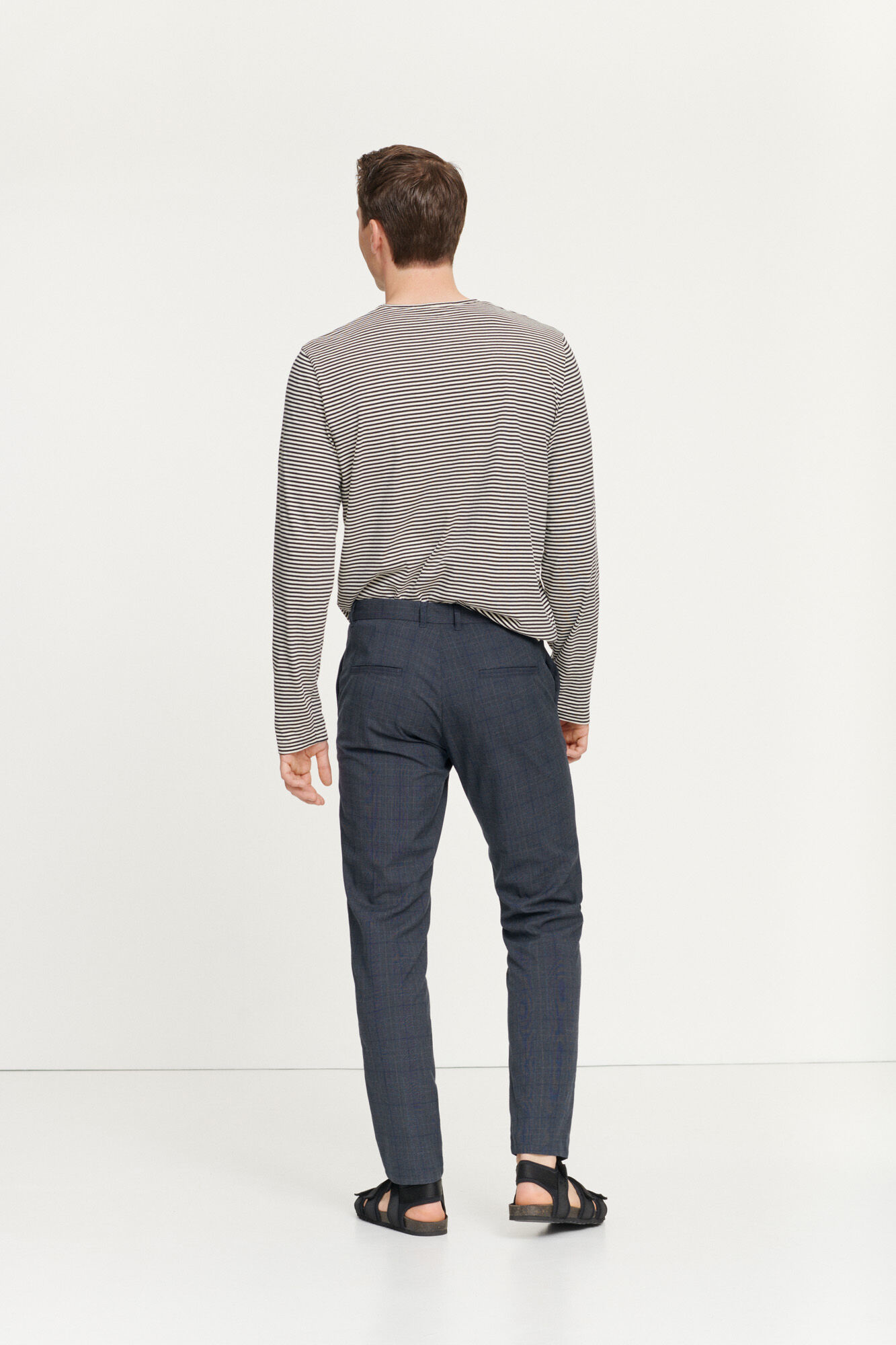 Frankie Regular Fit broek blauw geruit 11538-3
