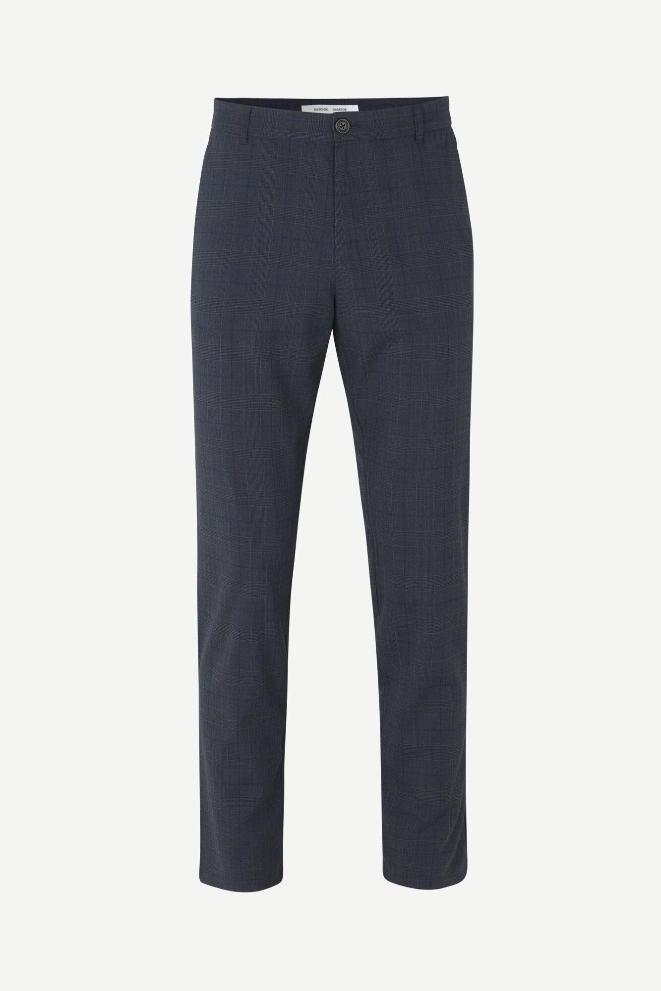 Frankie Regular Fit broek blauw geruit 11538-1