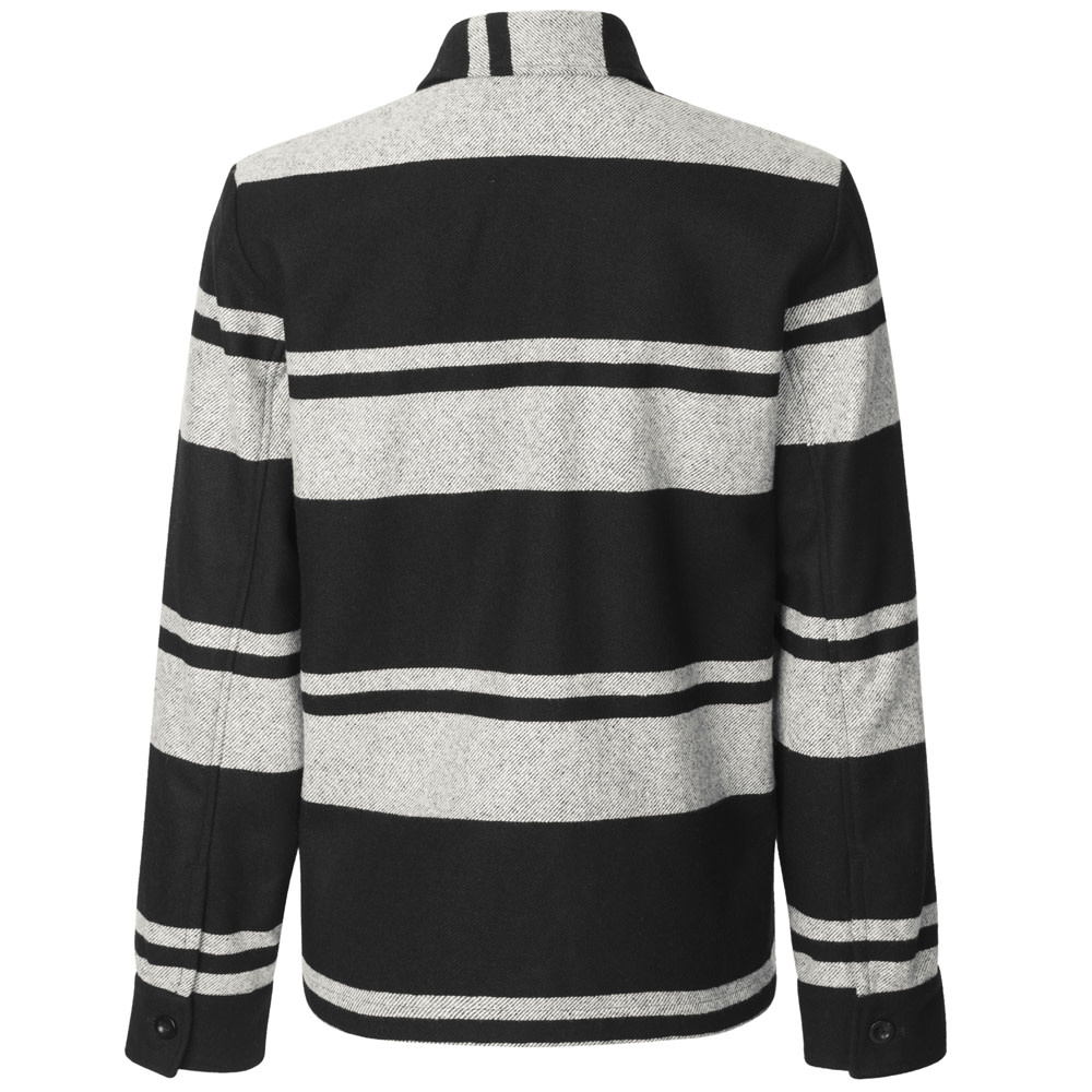 Meli X Jacket Wool Jacket Black White Stripe-2