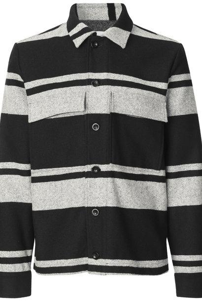 Meli X Jacket Wool Jacket Black White Stripe