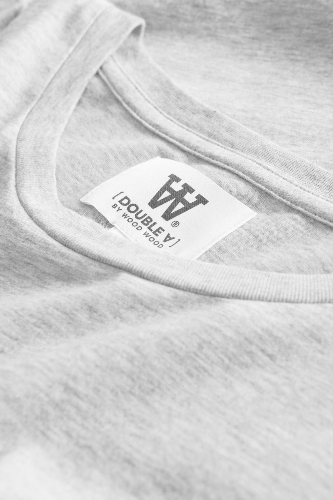 Ace Double A T-Shirt Grey Melange-3