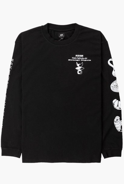 Strange Objects TS LS 160g Cotton T-shirt Black