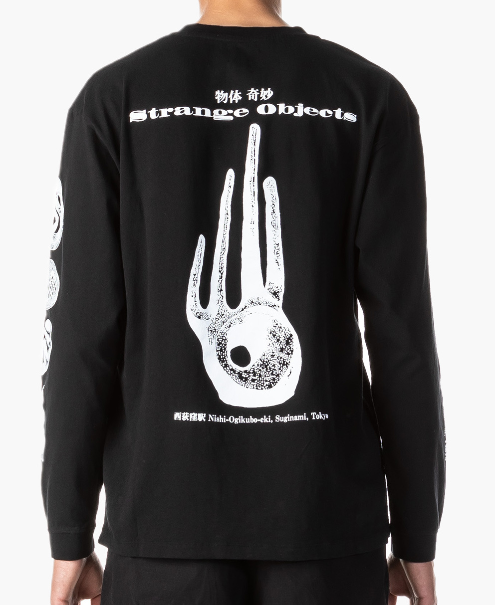 Strange Objects Longsleeve T-Shirt 160g Cotton T-shirt Black-2