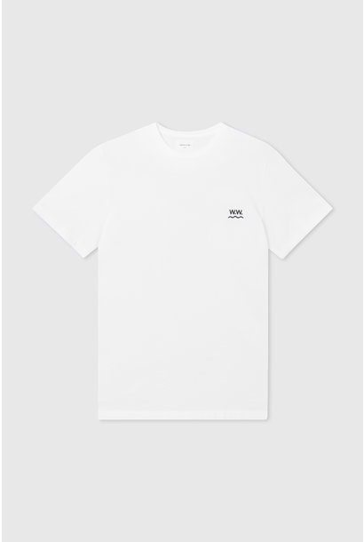 Wave Cotton T-Shirt Bright White