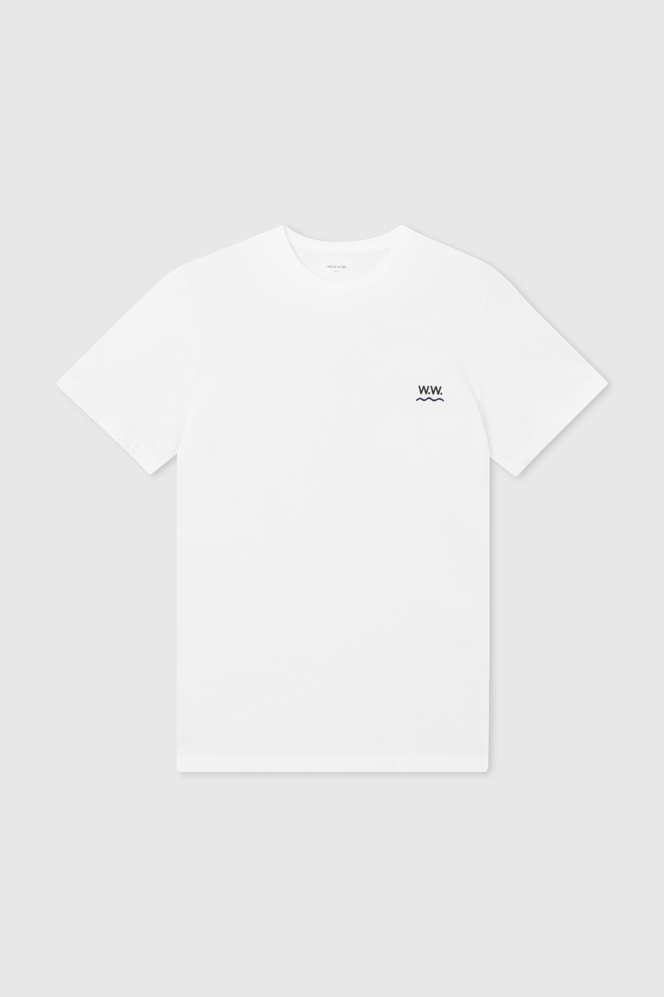 Wave Cotton T-Shirt Bright White-1
