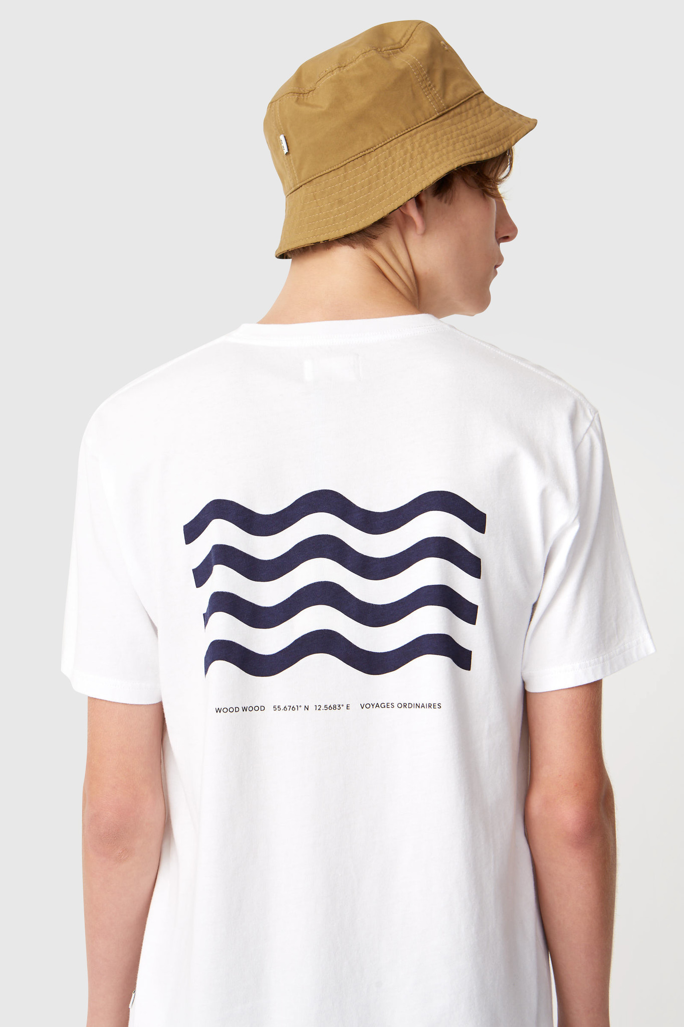Wave Cotton T-Shirt Bright White-5