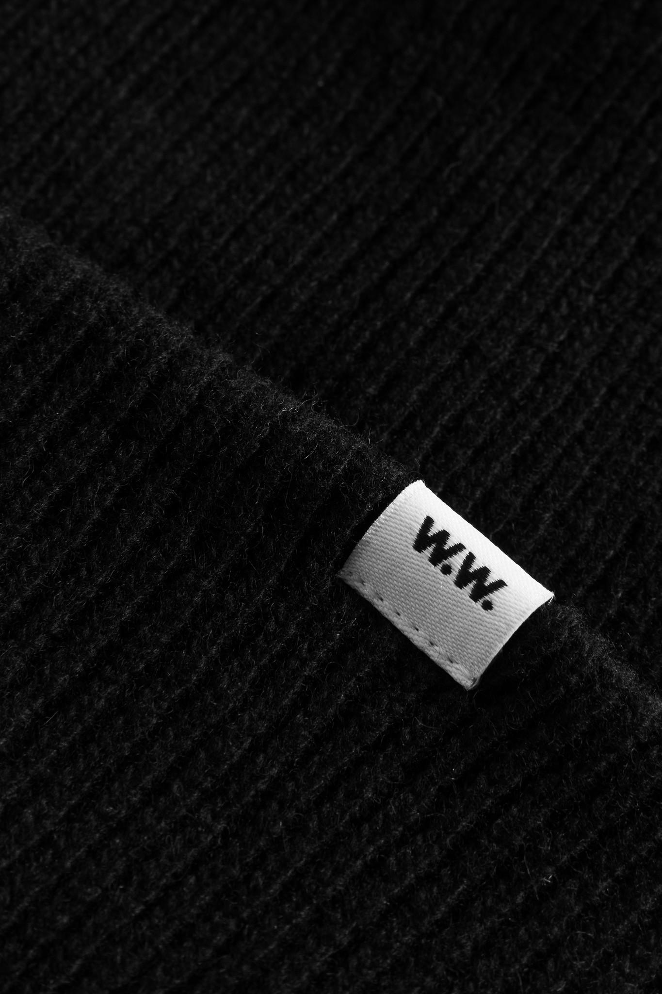 Mande Wool Beanie Black-2