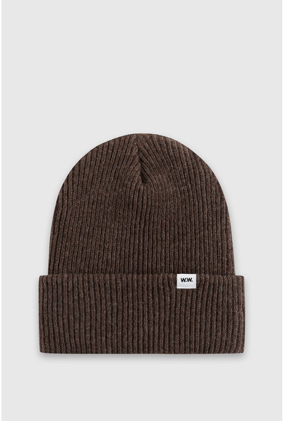 Mande Wool Beanie Dark Brown