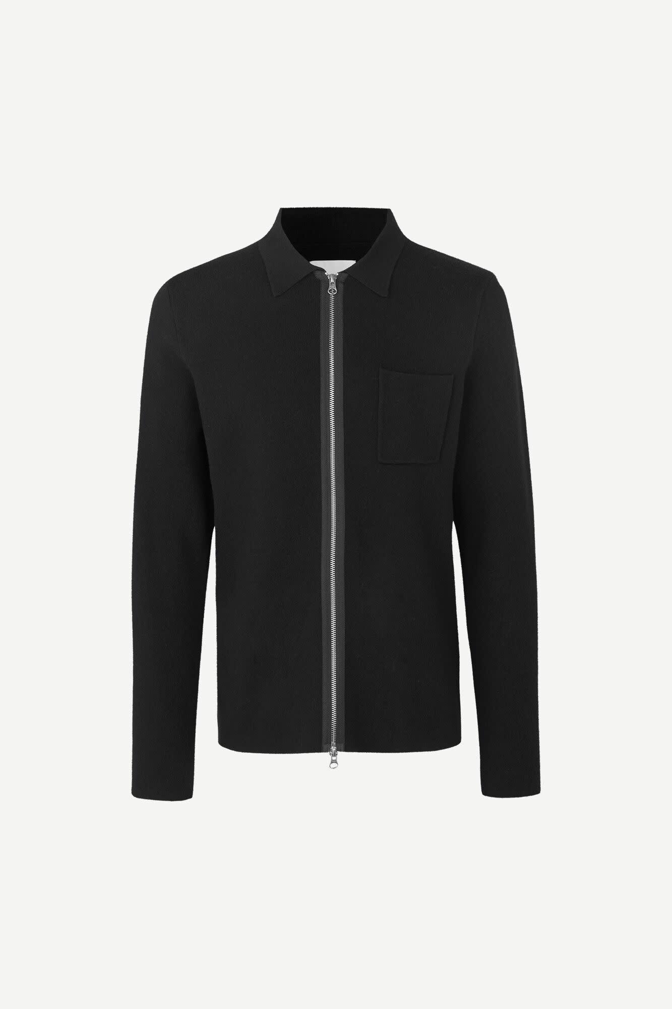 Guna X Zip Knitwear Vest Black 10490-1