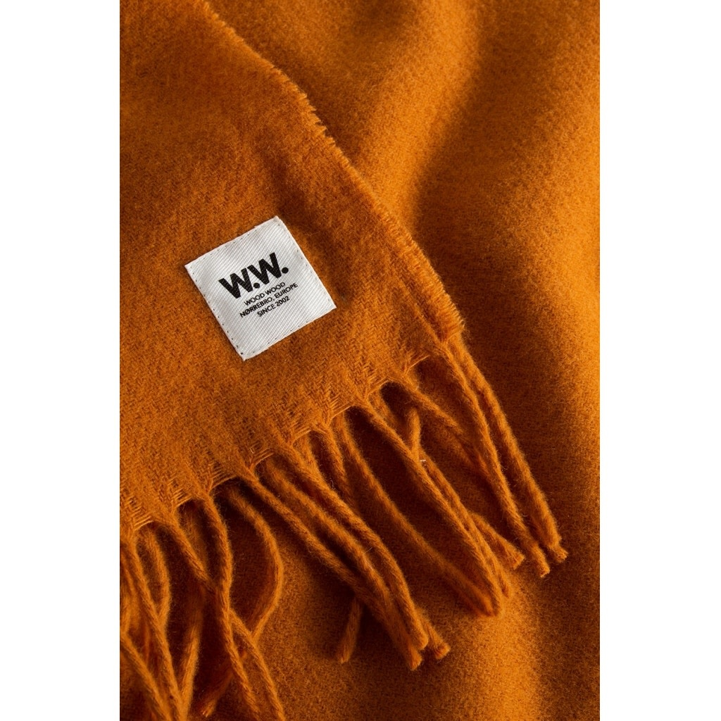 karlo Scarf Wool Orange-1