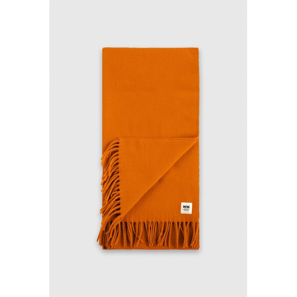 karlo Scarf Wool Orange-2