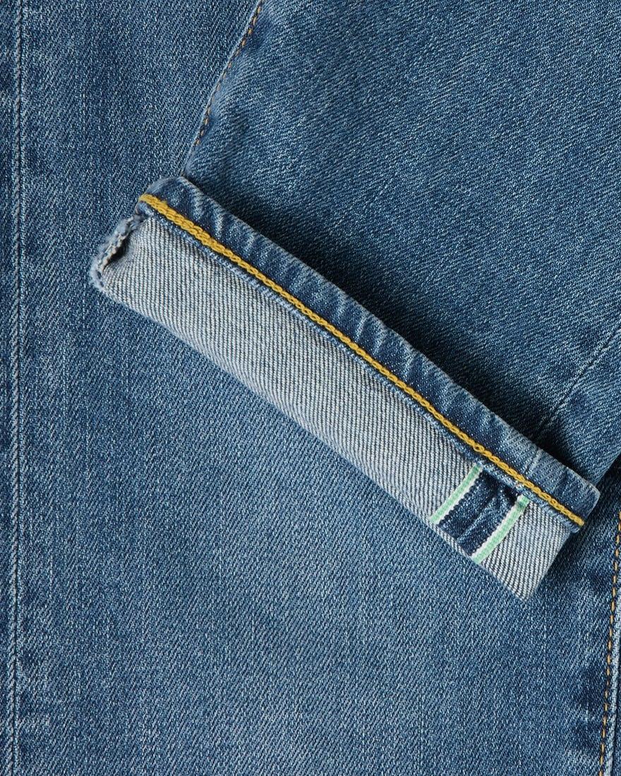 """Slank toelopend middenblauw """"Made In Japan"""" Kaihara Selvedge-denim-2"""