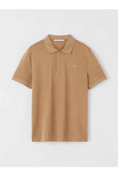 Darios Flat Collar Polo Peru Brown