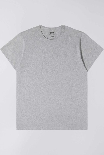 Double Pack Tee Crew Neck Grey