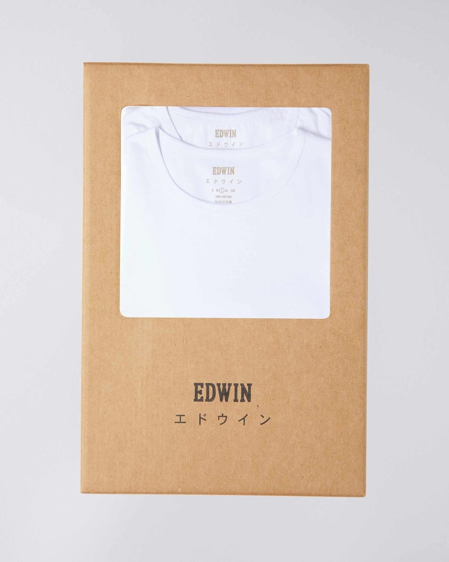 Double Pack SS T-Shirt Crew Neck White-5