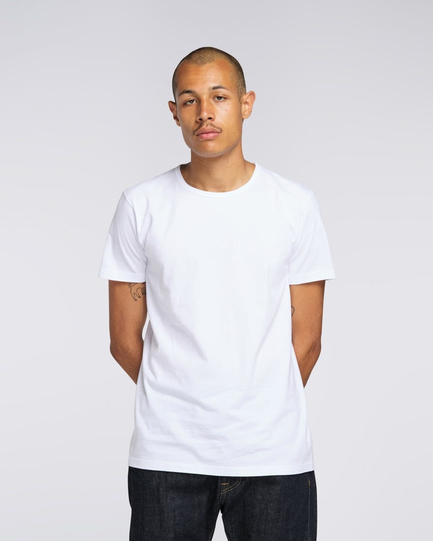 Double Pack SS T-Shirt Crew Neck White-2
