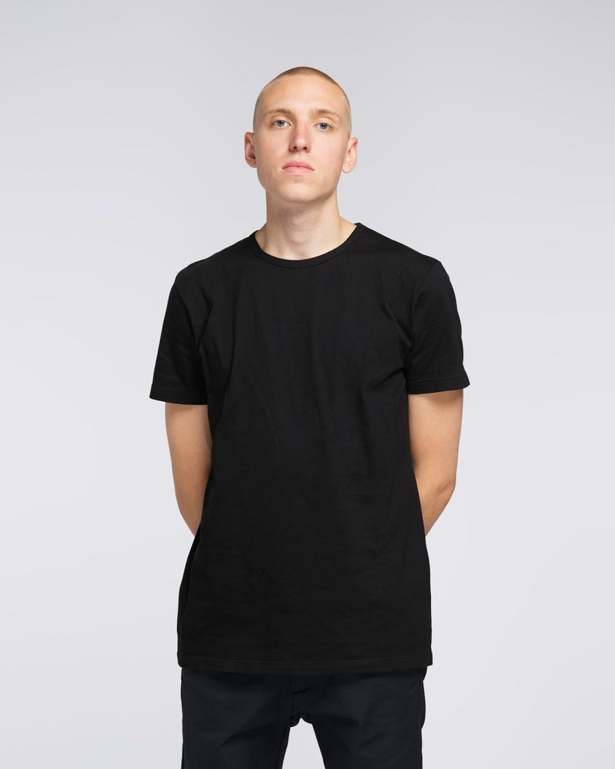 Double Pack SS T-Shirt Crew Neck Black-2