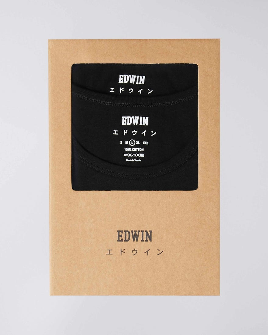 Double Pack SS T-Shirt Crew Neck Black-3
