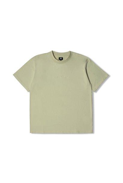 Katakana Embroidery T-Shirt Green