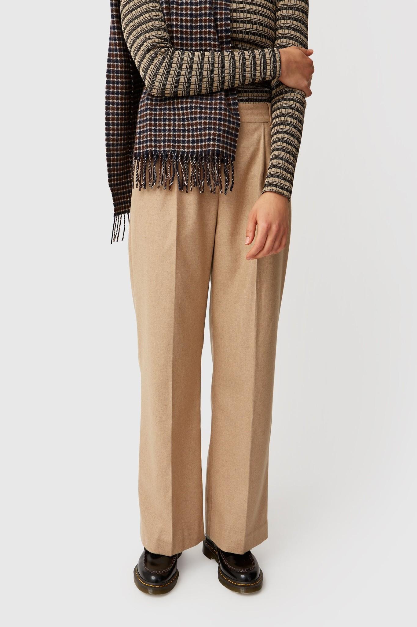 Sophie Wide Leg Trousers Khaki-1
