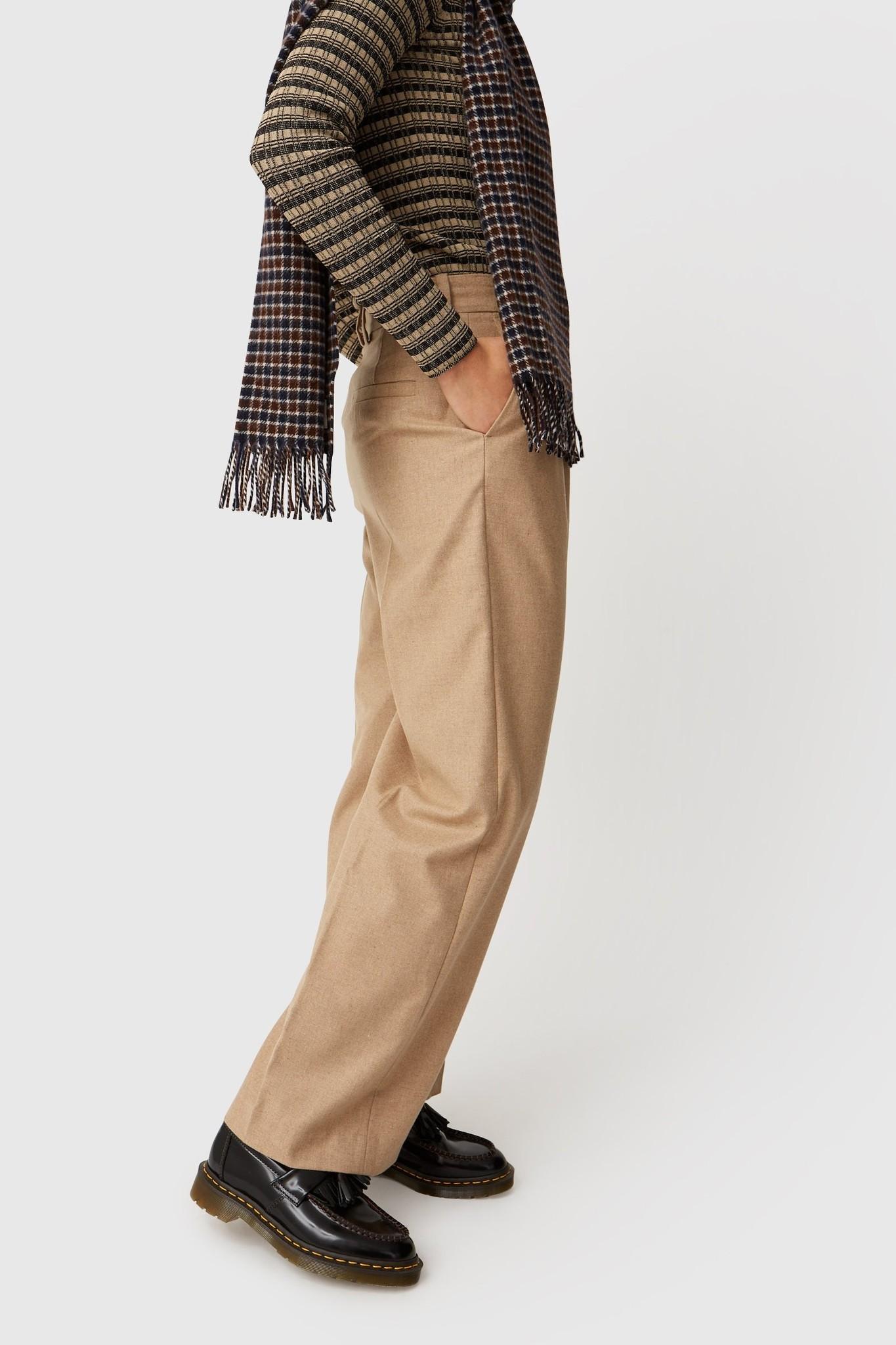 Sophie Wide Leg Trousers Khaki-2