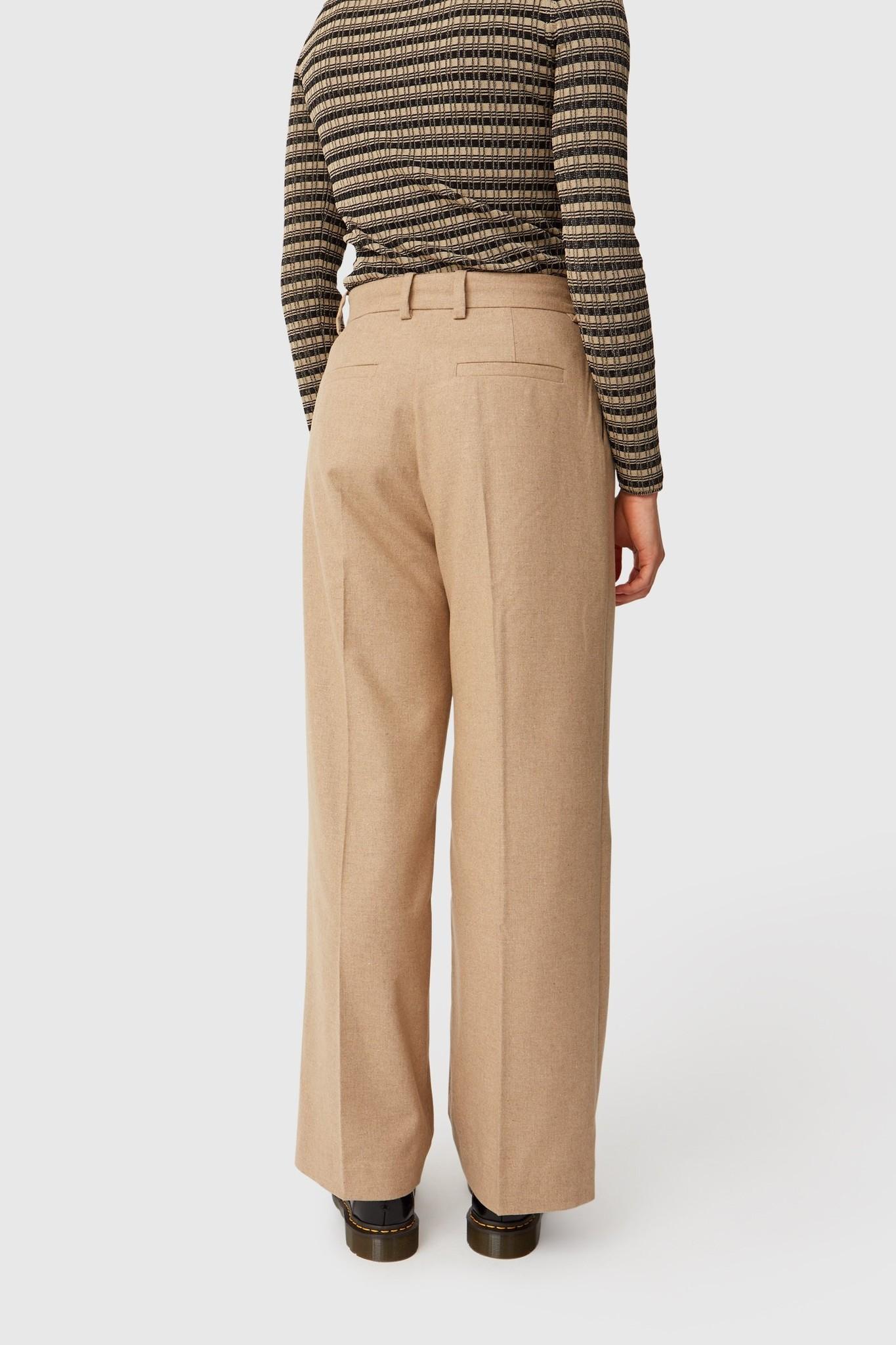 Sophie Wide Leg Trousers Khaki-3