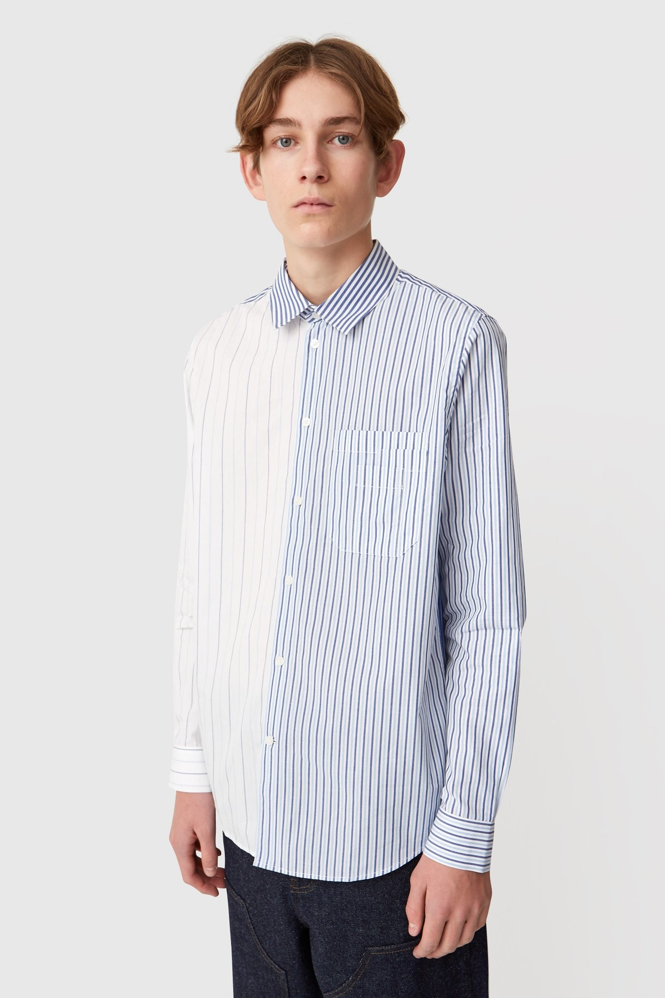 Timothy White Stripes Shirt-1