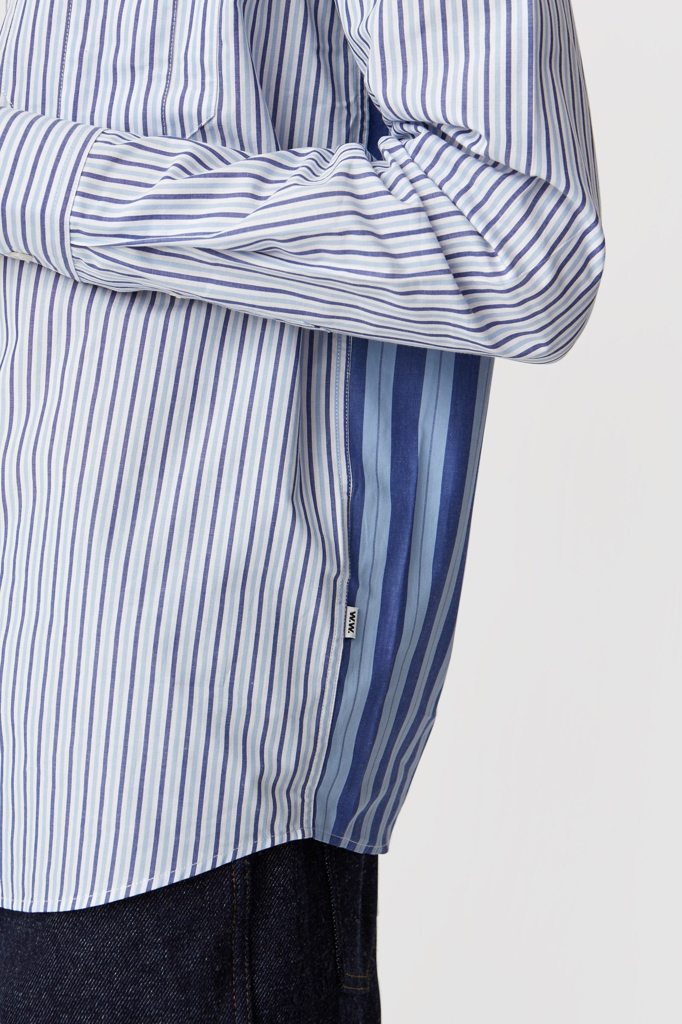Timothy White Stripes Shirt-2
