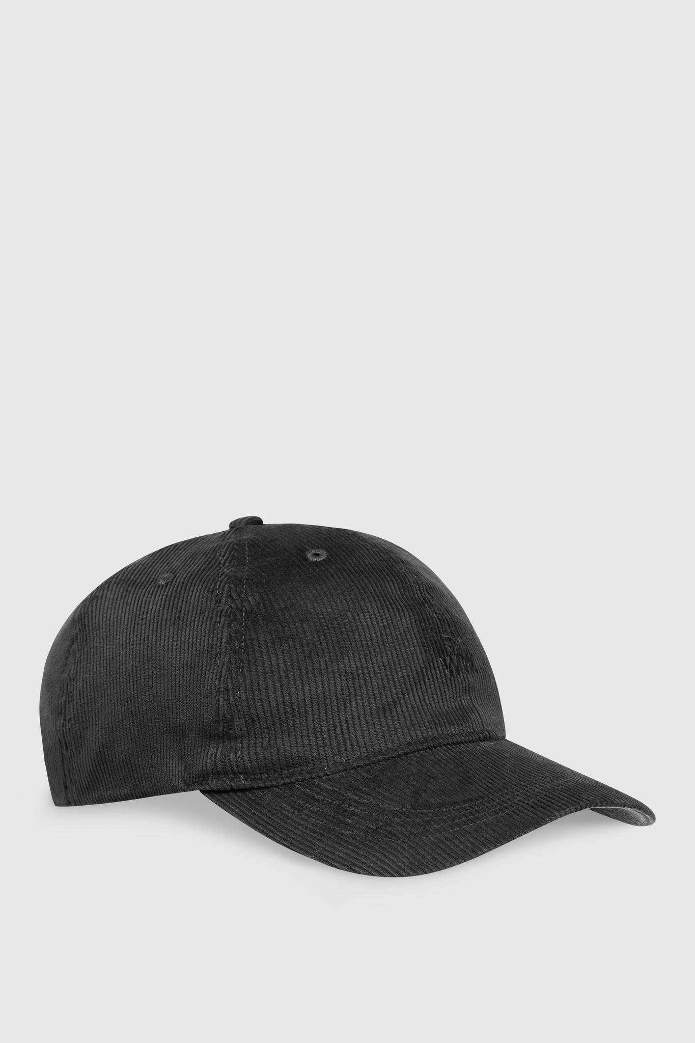 Low Profile Cap Rib Cord Black-1