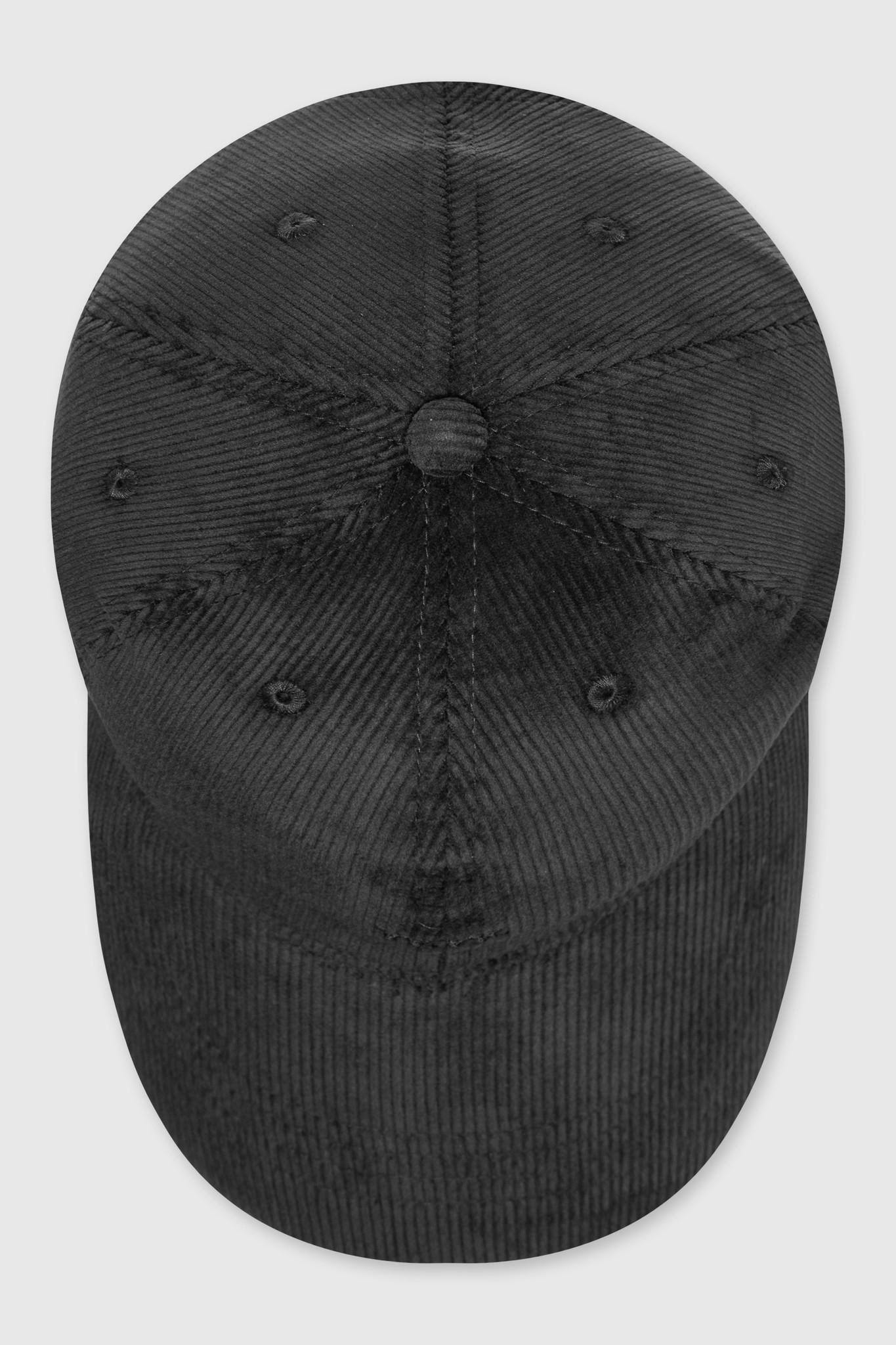 Low Profile Cap Rib Cord Black-3