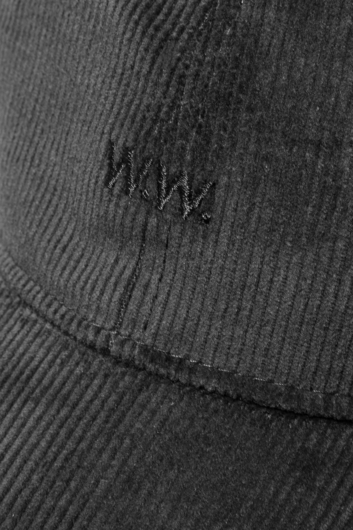 Low Profile Cap Rib Cord Black-2