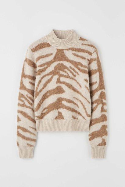 Yimma Khaki Brown X05 Print Knitwear