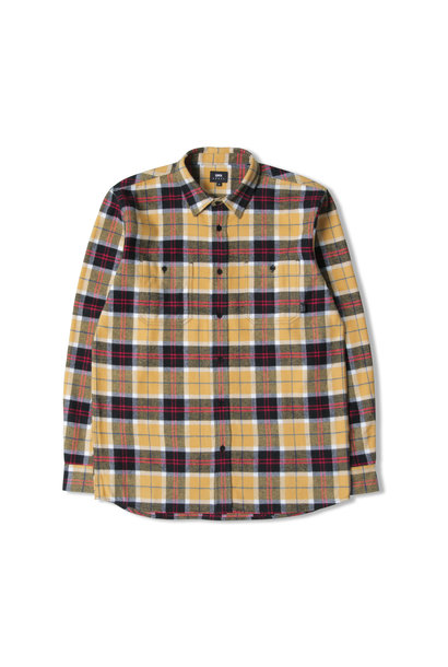 Labour Shirt Heavy Brushed Cotton Flannel Yellow Black