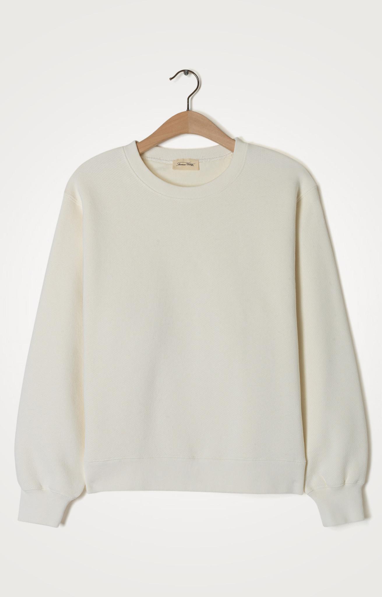 Ibowie Loose Sweatshirt Ecru White-1