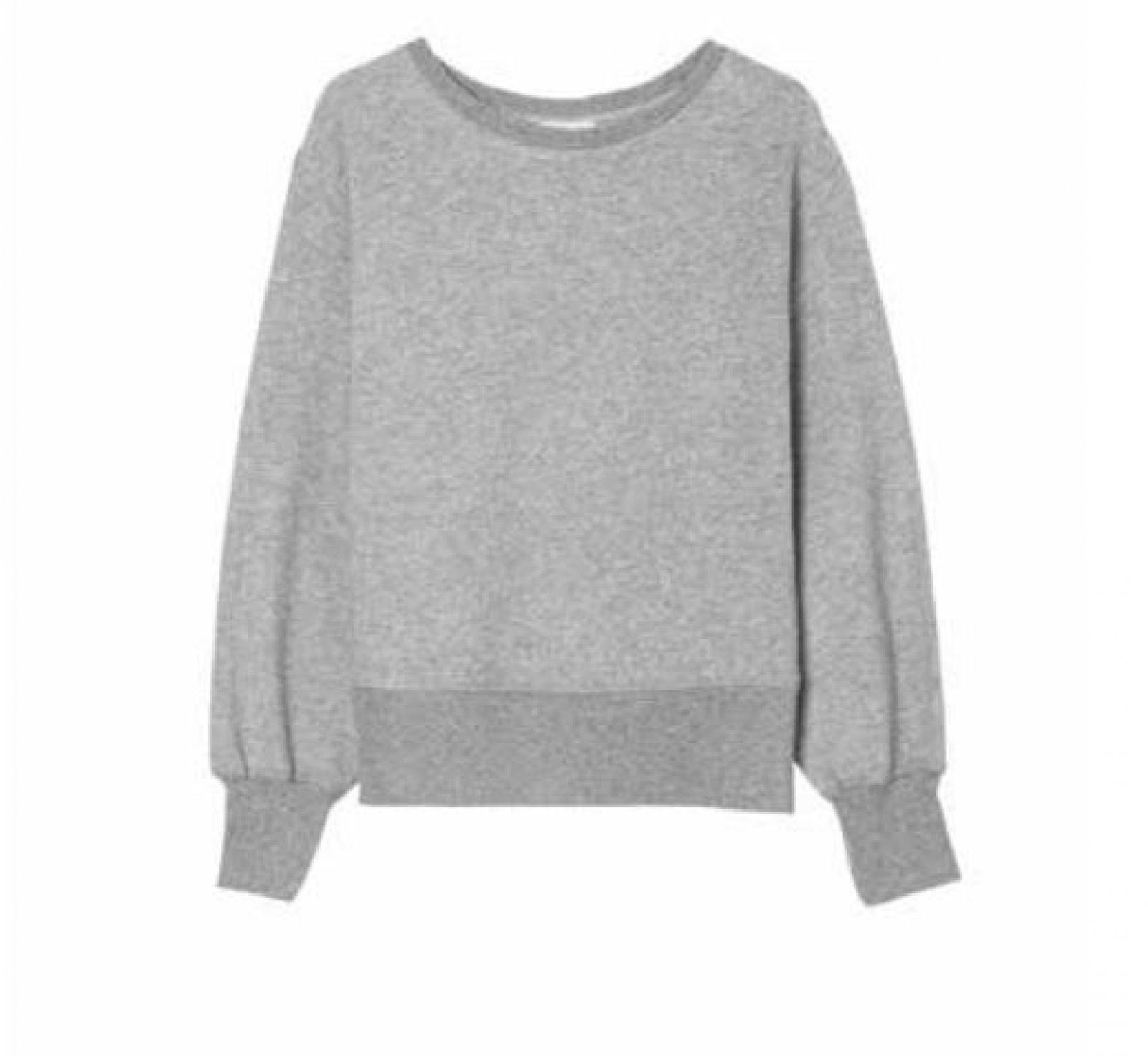Ibowie Loose Sweatshirt Grey Melange-1