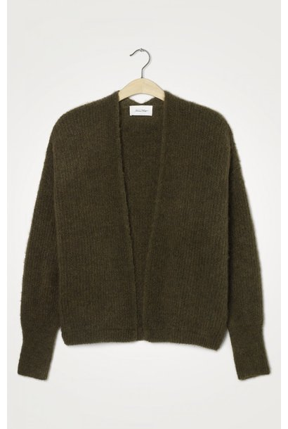 East Wool Vest Jungle Green Melange