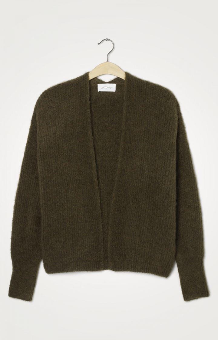 East Wool Vest Jungle Green Melange-1