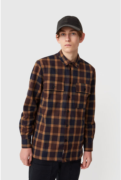 Franco Navy Check Shirt