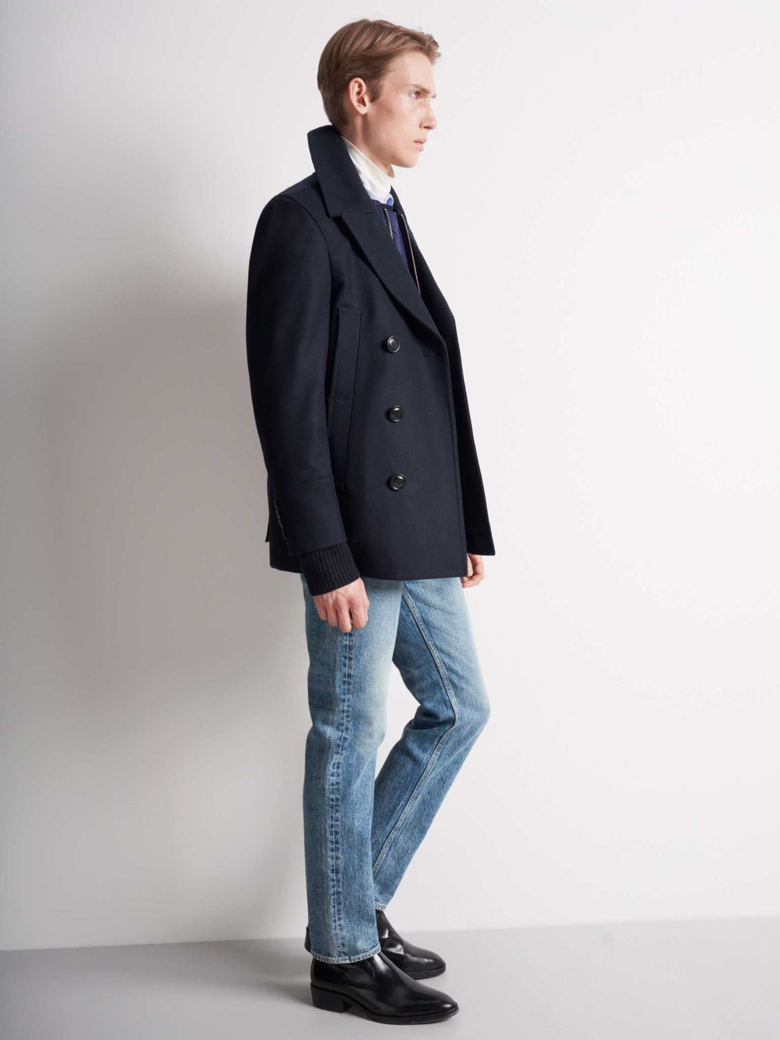 Thielo Wool Peacoat Light Ink Blue-2
