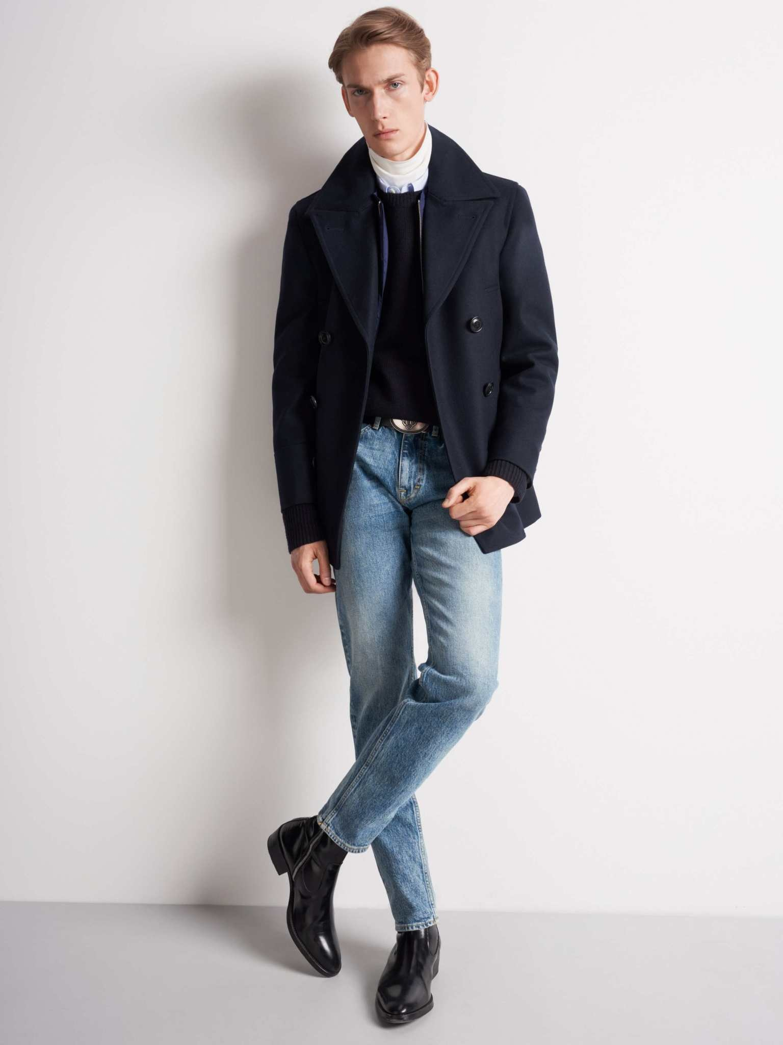 Thielo Wool Peacoat Light Ink Blue-3