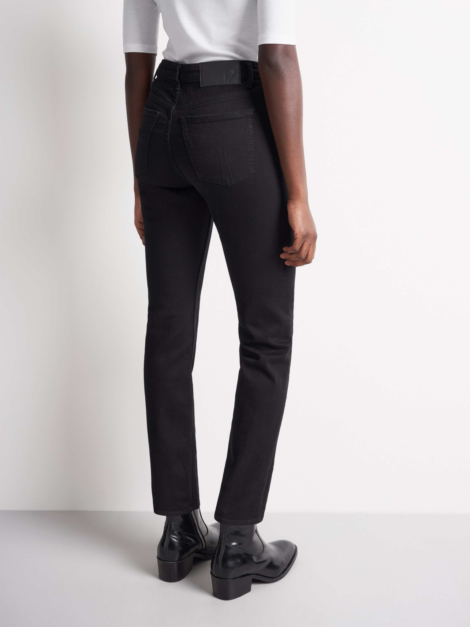 Meg High Waist Black Jeans-2