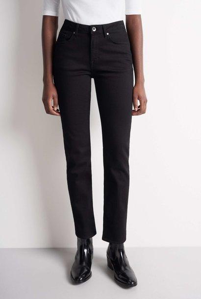 Meg hoge taille zwarte jeans