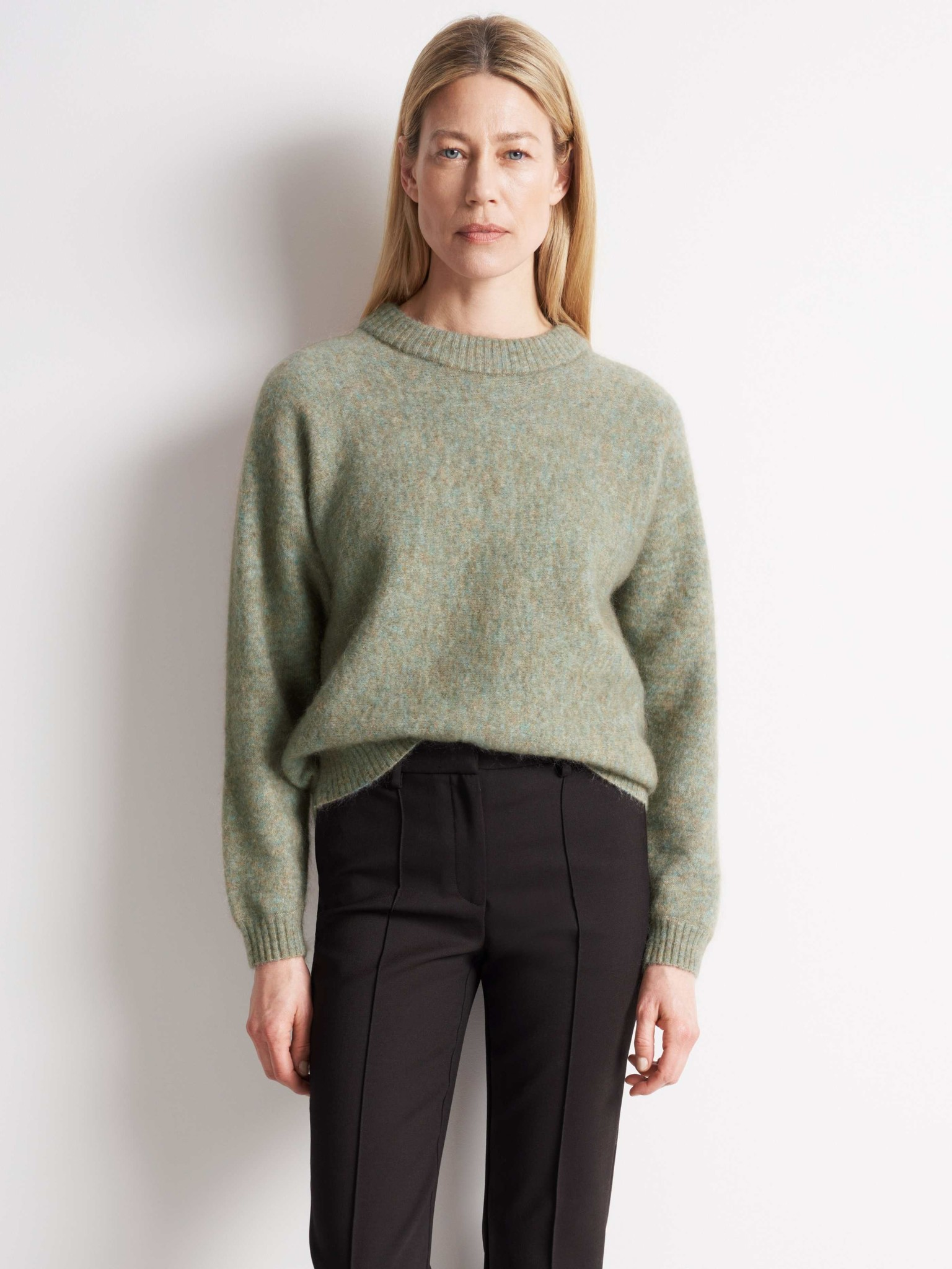 Gwynn Pale Jade Green Wool Knitwear-1
