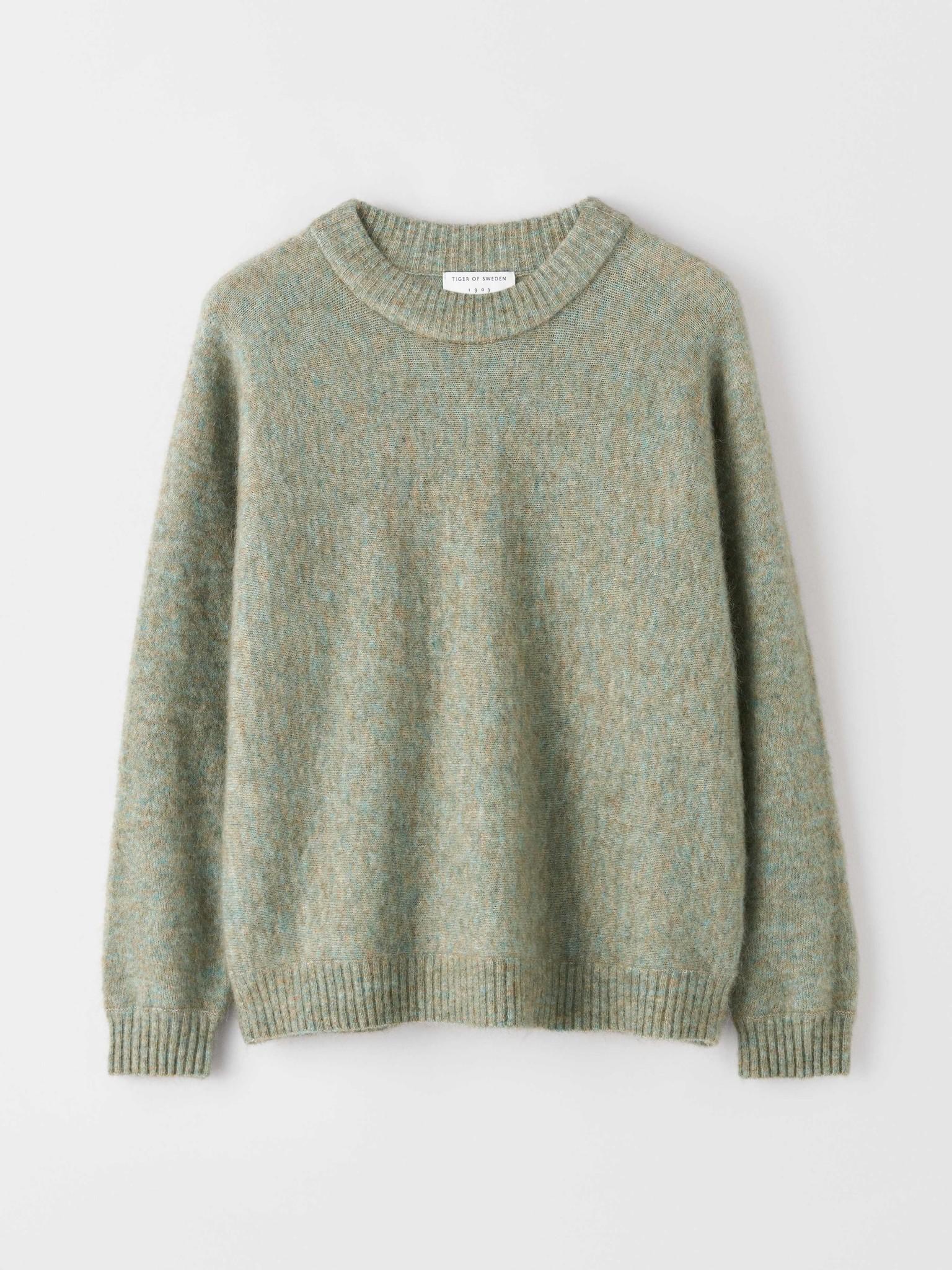 Gwynn Pale Jade Green Wool Knitwear-2