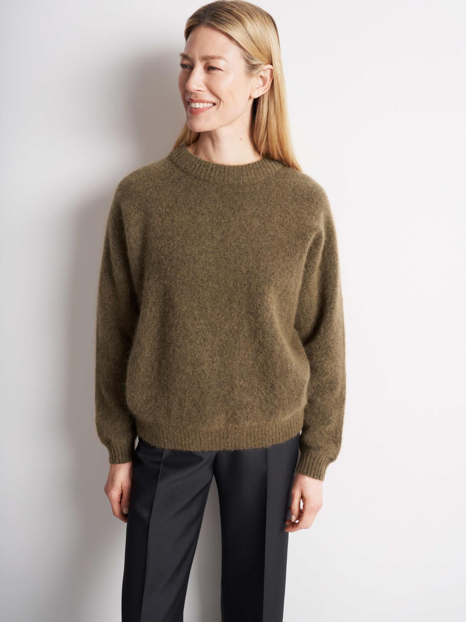 Gwynn Nut Brown Wool Knitwear-1