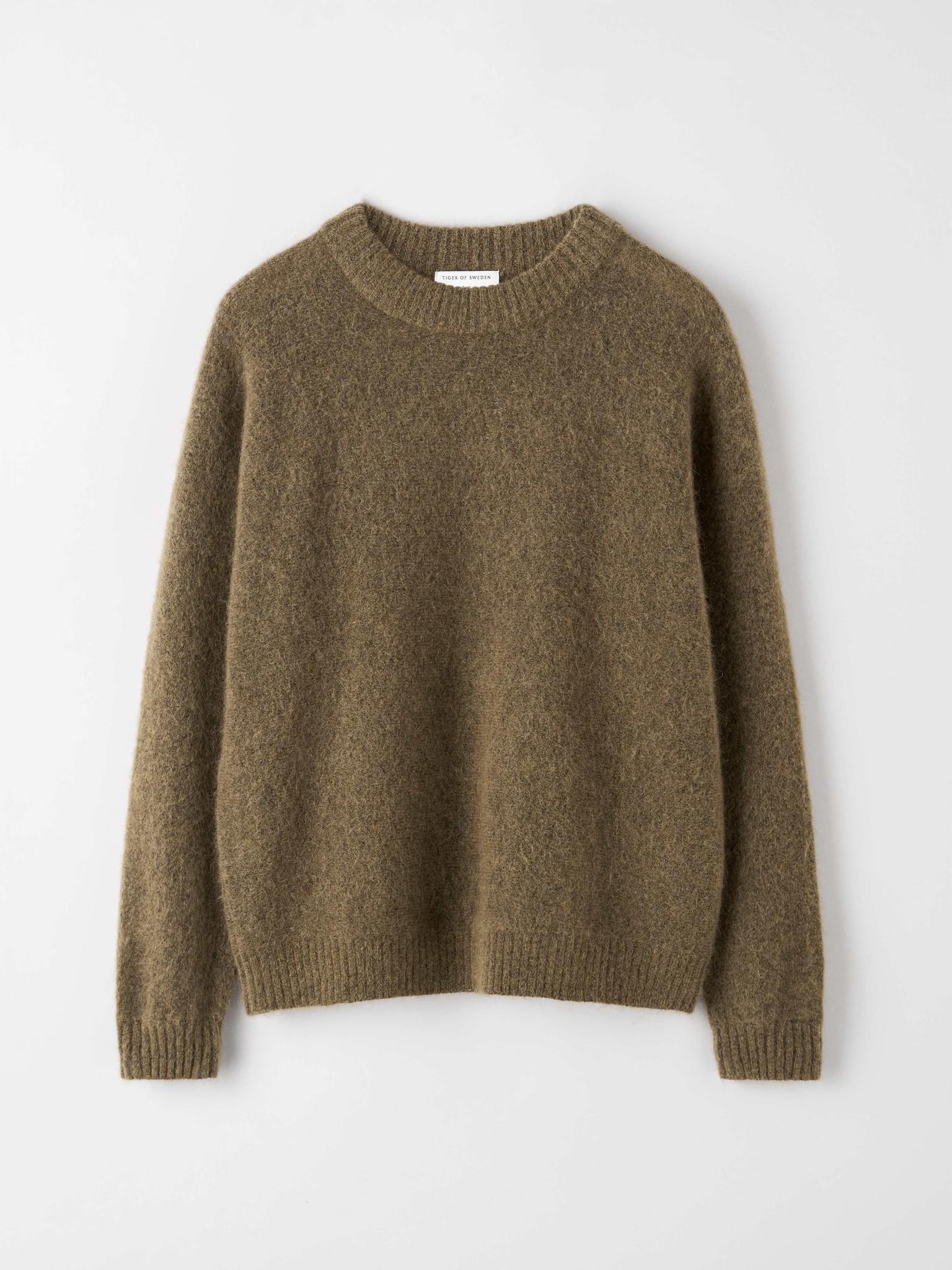 Gwynn Nut Brown Wool Knitwear-3
