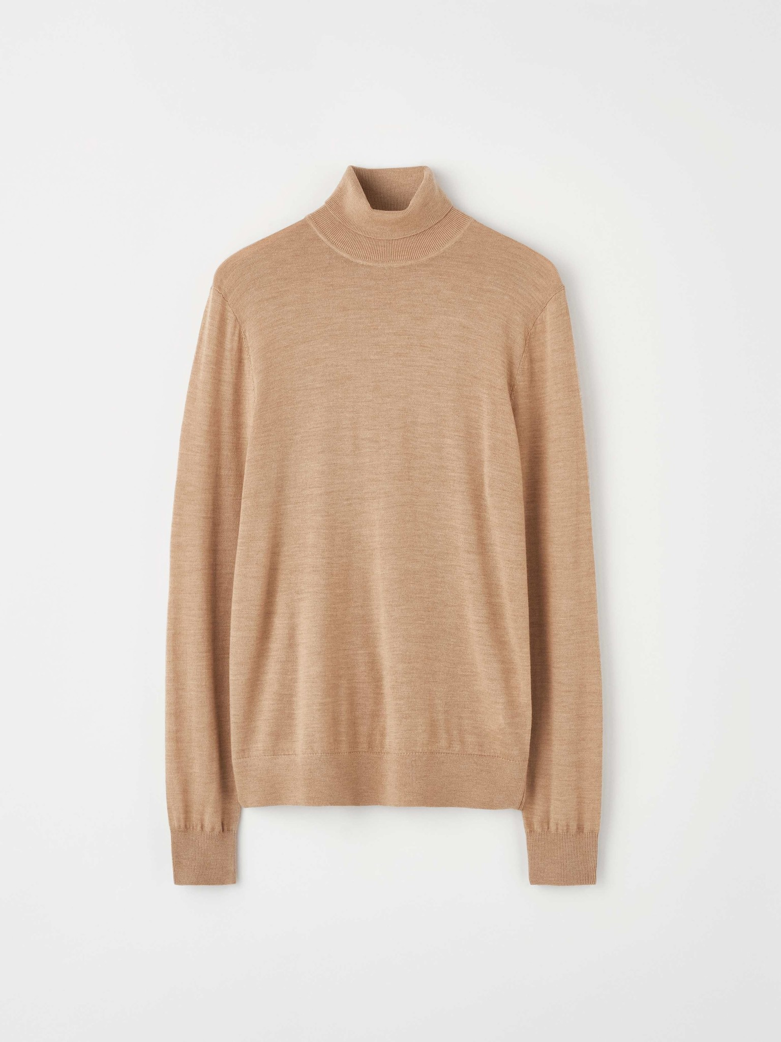 Nevile Macchiato Brown Turtle Neck Wool-2