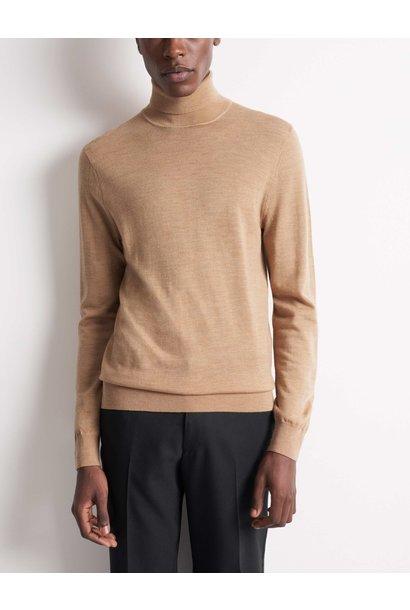 Nevile Macchiato Brown Turtle Neck Wool